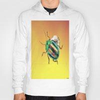 beetle Hoodies featuring Beetle by Joe Ganech