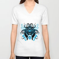 cthulu V-neck T-shirts featuring Lovecraftian Cosmic Horror by BlanzyDesign