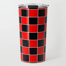 TEAM COLORS 4...RED,BLACK WHITE Travel Mug