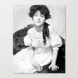Evelyn Nesbit by Gertrude Kasebier, 1900 Canvas Print