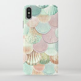 MERMAID SHELLS - MINT & ROSEGOLD iPhone Case