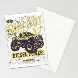 Big Foot Monster Truck Diesel Power Stationery Cards
