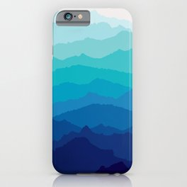 Blue Mist Mountains iPhone Case