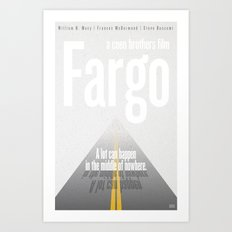 Film Friday No. 6, Fargo Art Print