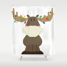 Merry Christmoose! Shower Curtain