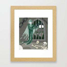ghost phantom of canterbury in jail Framed Art Print