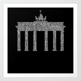 Premium Berlin District Design Art Print