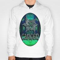 astrology Hoodies featuring Cancer Zodiac Sign Astrology by CAP Artwork & Design