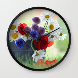 Flower potpourie from the cottage garden Wall Clock