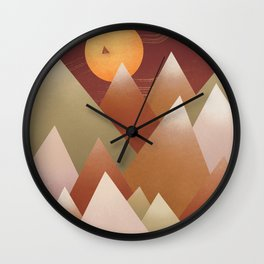 Abstraction Landscape 1 Camp on moon Wall Clock