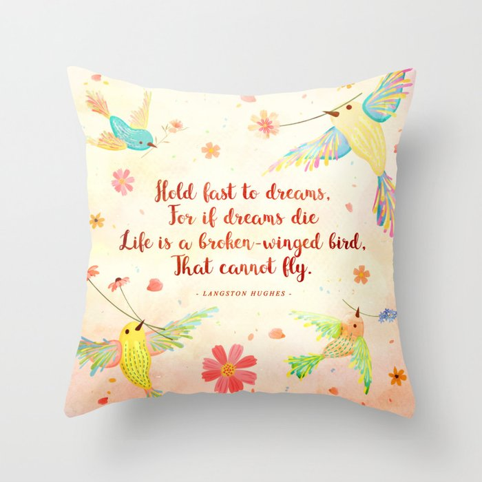 Hold Fast To Dreams Throw Pillow By Stellawenny Society6