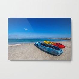 Seascape Boats Metal Print