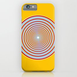 Drawn into Circles iPhone Case