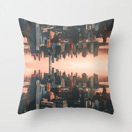 New York City Skyline Surreal Throw Pillow