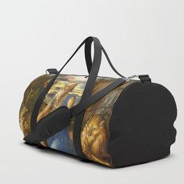 Saint Jerome in the Wilderness by Albrecht Dürer Duffle Bag
