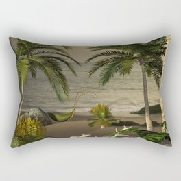Sunset over the beach Rectangular Pillow