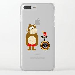 Mr. Mokey Clear iPhone Case