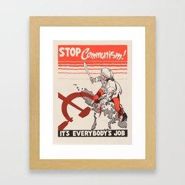 Vintage poster - Stop Communism Framed Art Print