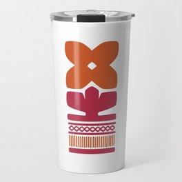 Nordic Orange Flower Travel Mug