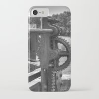 grease iPhone & iPod Cases featuring Gears and grease by PICSL8