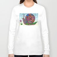 snail Long Sleeve T-shirts featuring Snail by WelshPixie