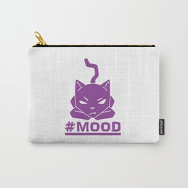 #MOOD Cat Purple Carry-All Pouch
