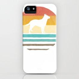 retro vintage sundown australian livestock canine shape present pullover tee iPhone Case