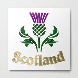 Scottish emblem thistle Metal Print
