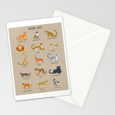 Exotic Cats Stationery Cards