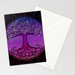 Tree of Life - Hot Pink Stationery Cards