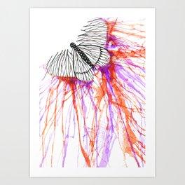 butterfly splash Art Print