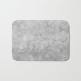Soft Gray Clouds Texture Bath Mat