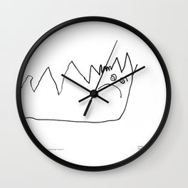 [angry caterpillar] - nadya 3 yr Wall Clock