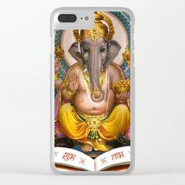 Lord Ganesha Hindu Oriental Art Spiritual Buddhism Yoga Clear iPhone Case