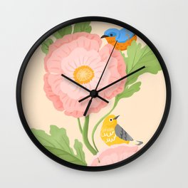 Poppy and Little Friends Wall Clock