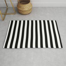 Black and white vertical stripes Rug