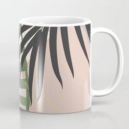 Minimal Tropical Palm Leaf Finesse #3 #tropical #decor #art #society6 Coffee Mug