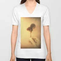 imagine V-neck T-shirts featuring Imagine by Victoria Herrera