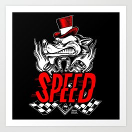 The Speed Metal Art Print