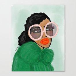Green Coat Canvas Print