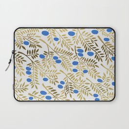 Olive Branches – Gold & Blue Laptop Sleeve