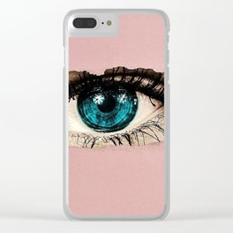 The Eye of the Beholder Clear iPhone Case