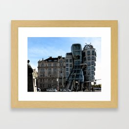 The Dancing House in Prague by Frank Grehry Framed Art Print