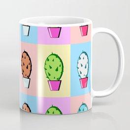 Colorful cartoon cactus pattern Coffee Mug
