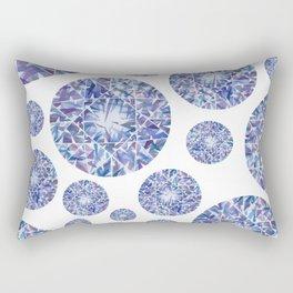 Purple Round Gem Pattern Rectangular Pillow