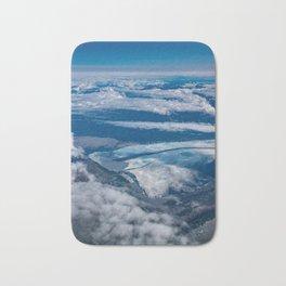 Aerial Glacier Five - Alaska Bath Mat
