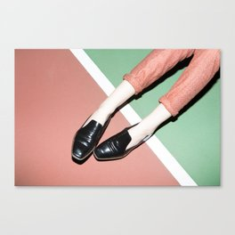 Legs on tennis court Canvas Print