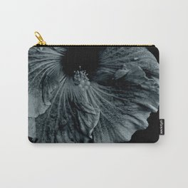 Hibiscus in Indigo Carry-All Pouch