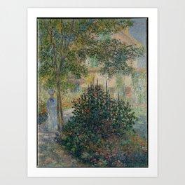 Claude Monet - Camille Monet (1847–1879) in the Garden at Argenteuil.jpg Art Print