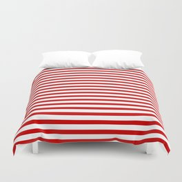 Red and White Stripes Duvet Cover